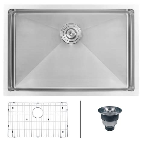 16 undermount stainless steel sink ruvati undermount stainless steel 28 in 16 single