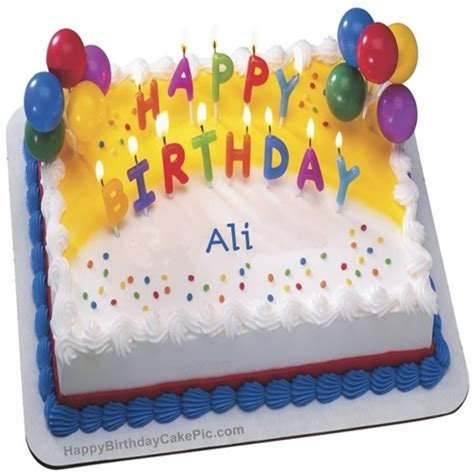 birthday wish cake with candles for ali