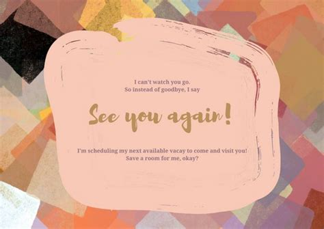 Going Away Card Template by Colorful Going Away Card Templates By Canva
