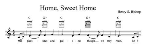 home sweet home lyrics chords and lead sheet