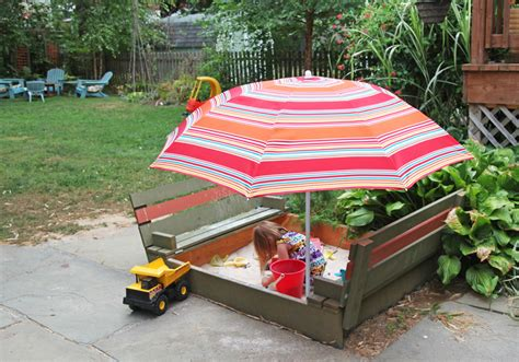 sandbox with benches how to make built in bench sand box diy crafts