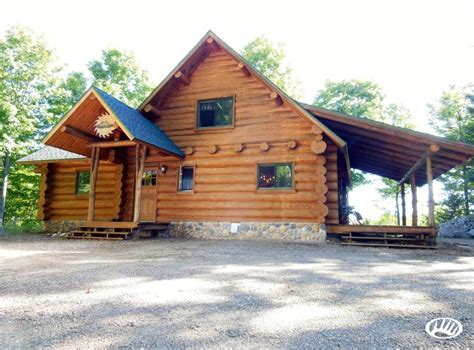 Northwoods Cabins by Log Home And Log Guest Cabin On Beautiful Northwoods
