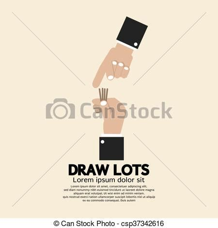 draw lots program vector clip of draw lots risk taking concept draw