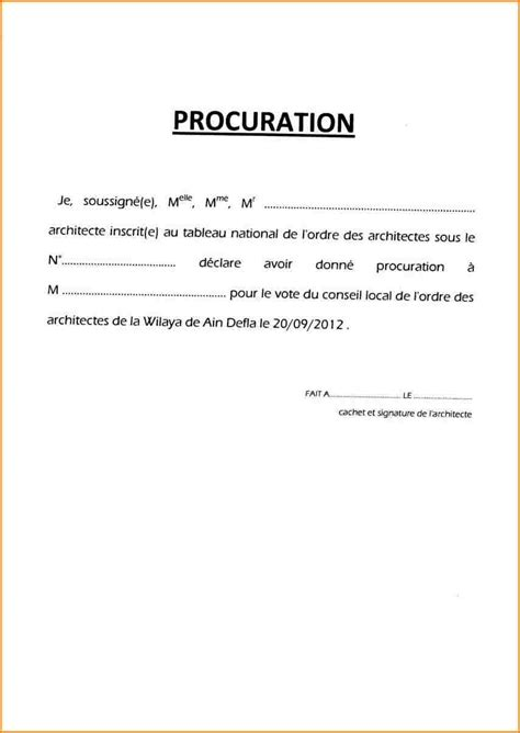 Exemple Lettre De Procuration Manuscrite 9 Lettre De Procuration Curriculum Vitae Etudiant