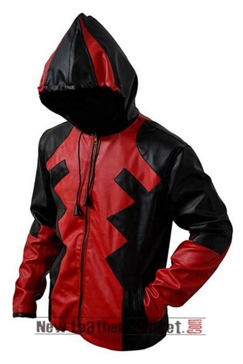 Dead Pool Jaket by Deadpool Hoodie Leather Jacket