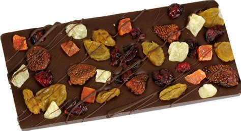 handmade belgian chocolate bar dried fruit