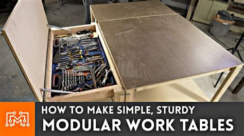 how to a work table simple modular work tables with magnets woodworking