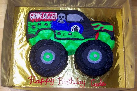 grave digger truck cake grave digger cake cakecentral com