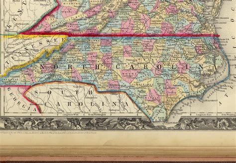 road map of carolina and virginia carolina maps