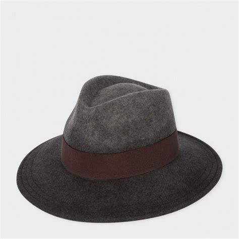 paul smith s grey d 233 grad 233 wool felt fedora hat in