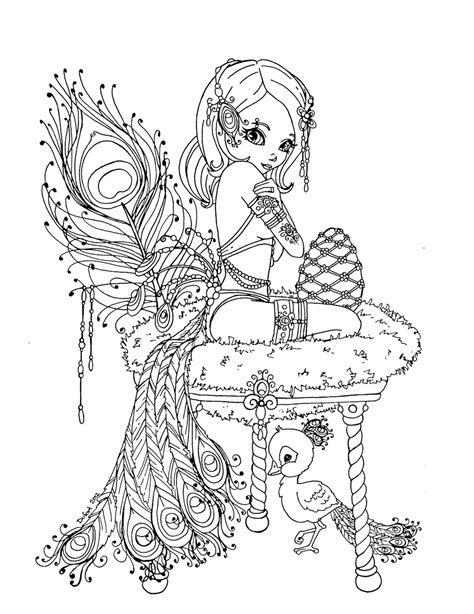 Peacock Princess By Jadedragonne On Deviantart Tattoos Pin Up Coloring Pages Printable