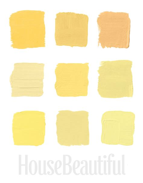 shades of yellow paint the best yellow paint shades picked by house beautiful