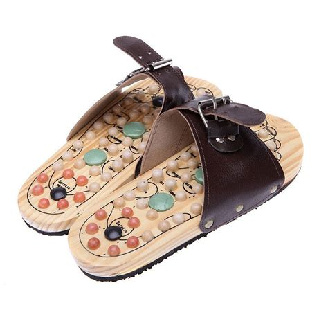 ebay sandals healthy reflexology acupuncture wooden foot massager