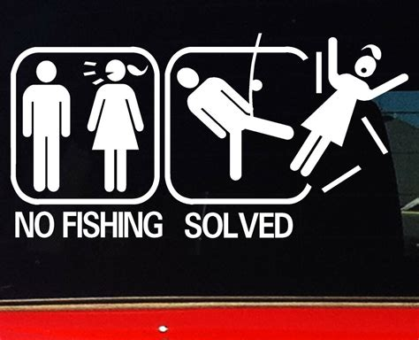 funny fishing boat decals 200mm funny fishing boat 4x4 car stickers no fish problem