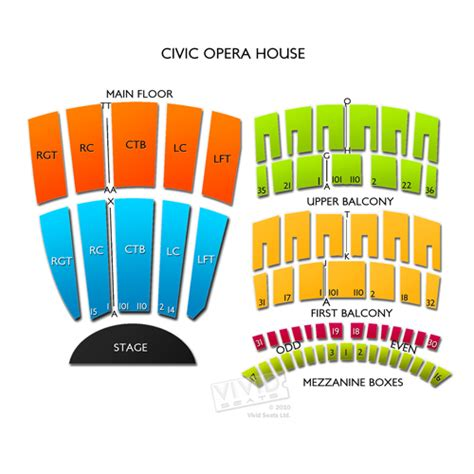 civic opera house seating civic opera house seating chart seats