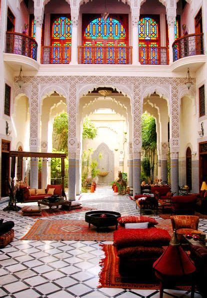 moroccan riad  typical moroccan houses