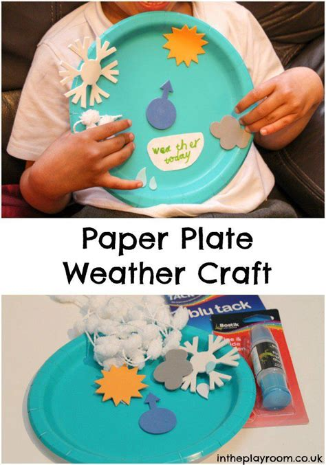 Types Of Paper Crafts - paper plate weather craft different types crafts and paper