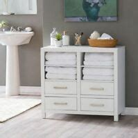 modern white wood linen tower bathroom storage cabinet