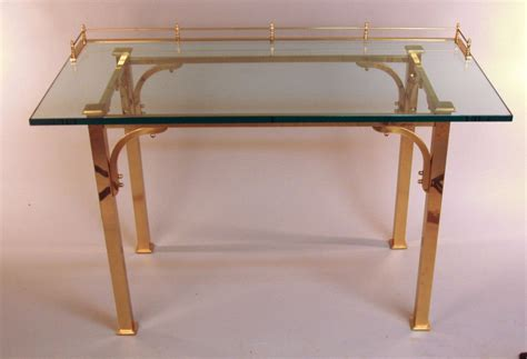 Glass Vanity Desk by Brass And Glass Writing Desk Vanity Table At 1stdibs