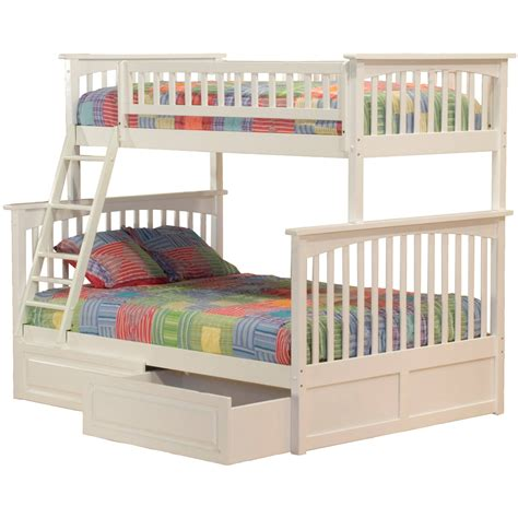 Bunk Beds Deals Atlantic Furniture Columbia White Bunk Bed With Raised Panel Drawers The