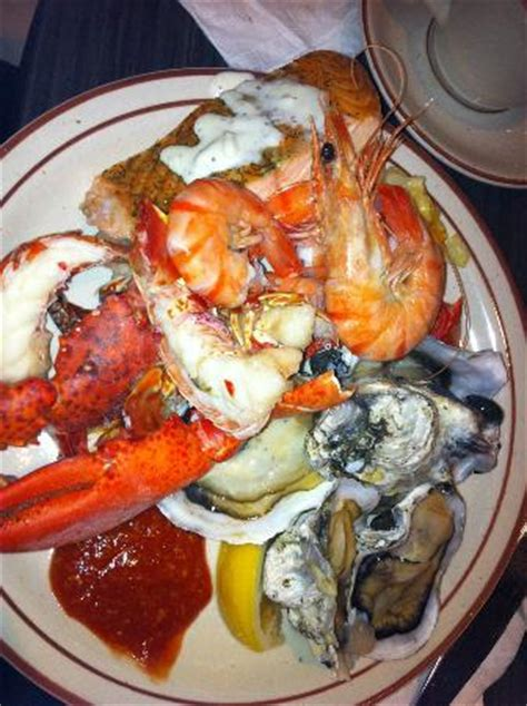 seafood plate among the other plates picture of grey