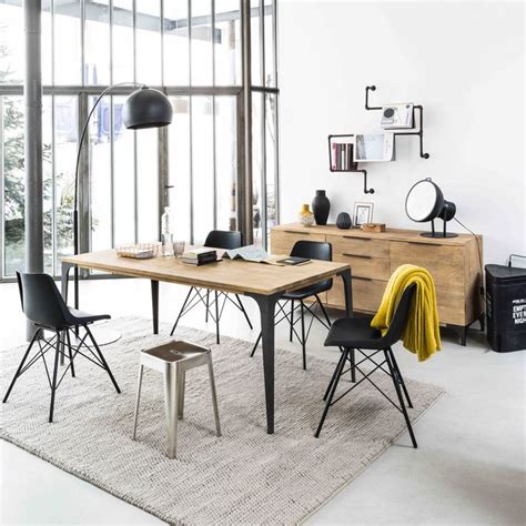Table De Chevet Blanche 887 by Top Solid Mango Wood Dining Table W Cm Metropolis Maisons