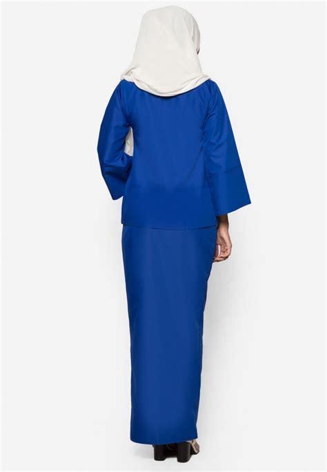 Baju Kurung Kedah Royal Blue kurung kedah qaseh royal blue aa4044bk amar amran boutique