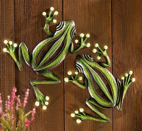 garden wall decoration decorative glowing garden frogs wall decor landscape