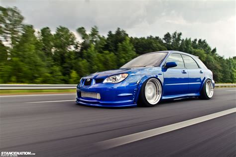 subaru impreza modified blue subaru wrx wagon blue kit cars modified wallpaper