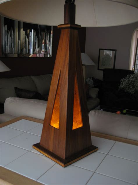Handmade Wooden Table - handmade wooden table l led and incandesent light