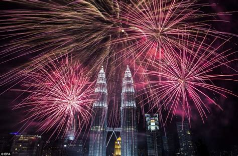 celebration of new year in malaysia australia japan hongkong welcome 2014 with dazzling