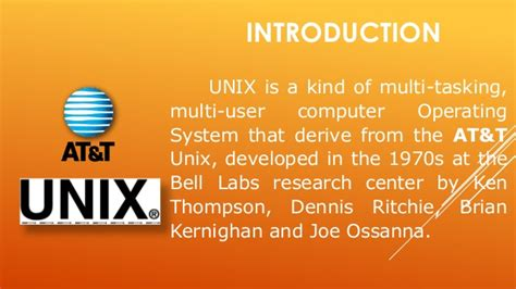The Unix Operating System unix operating system