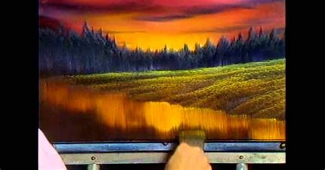 bob ross paintings tutorial the of painting s13e4 evening at sunset painting