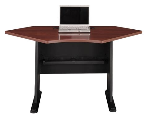 series a hansen cherry 42 inch corner desk from bush