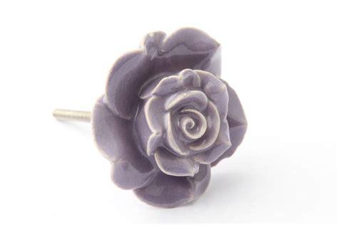 Ceramic Flower Knobs by Purple Ceramic Flower Drawer Knob By Grey Interiors