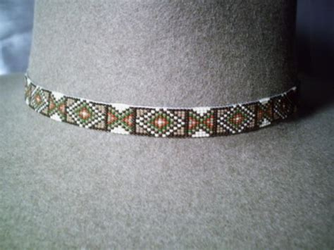 beaded hat band patterns vintage american beaded hatband sioux indian design