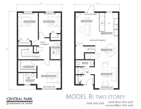 Floorplan Of A House Central Park Development Floor Plans Takhini Whitehorse