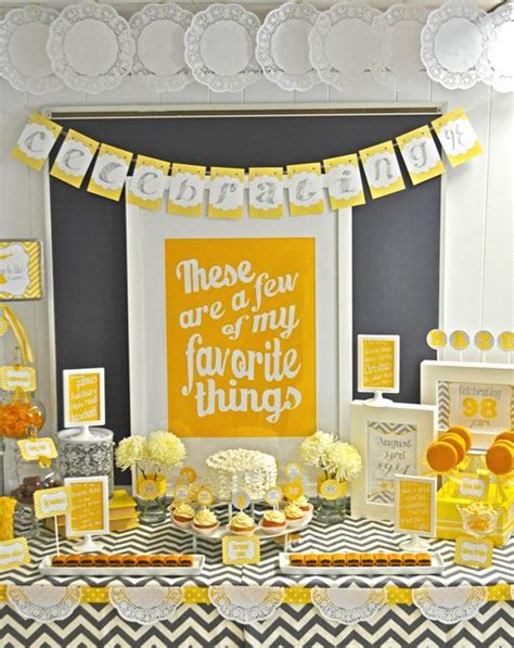 theme few few of my favorite things birthday party ideas birthdays