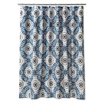 blue ikat shower curtain blue shower curtain target