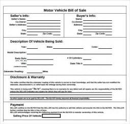 auto bill of sale template 8 download free documents in