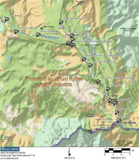 fly fishing colorado map my fly fishing colorado s roaring fork river