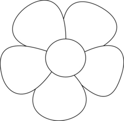 simple flower clip art at clker com vector clip art