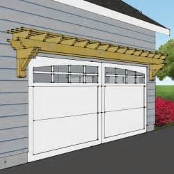 Garage Pergola Designs Custom Rustic Garage Pergola Eh Pergolas