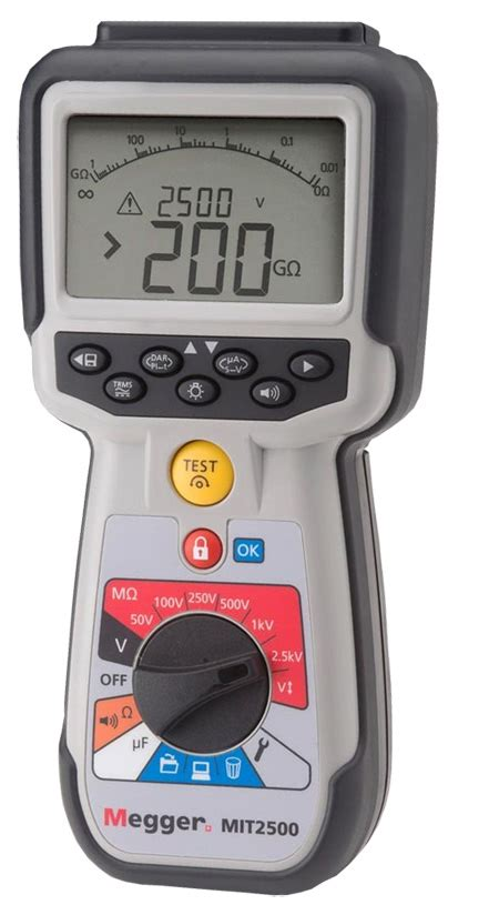 megger test megger mit2500 insulation tester megohmmeters