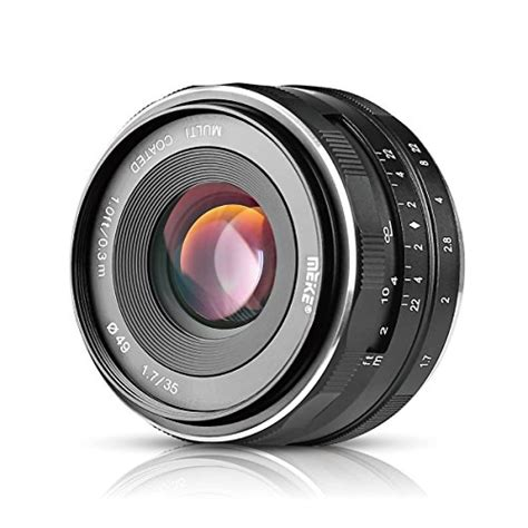 Lensa Meike 35mm F1 7 Sony Mirrorless 1 meike mk e 35 1 7 35mm f1 7 large aperture manual prime fixed lens aps c for sony e mount