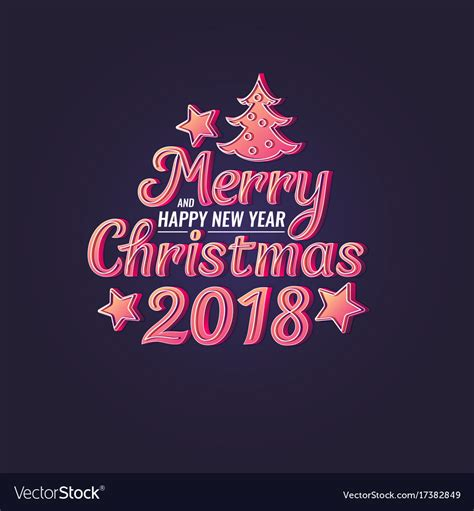 merry christmas  happy  year modern vector image