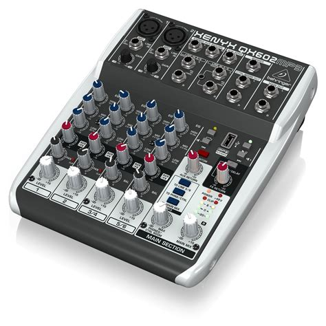 Mixer Lighting Behringer behringer xenyx qx602mp3 6 input mixer with mp3 player at gear4music