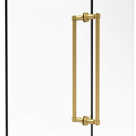 Polished Brass Shower Doors Allied Brass Contemporary 18 In Back To Back Shower Door Pull In Polished Brass 405 18bb Pb