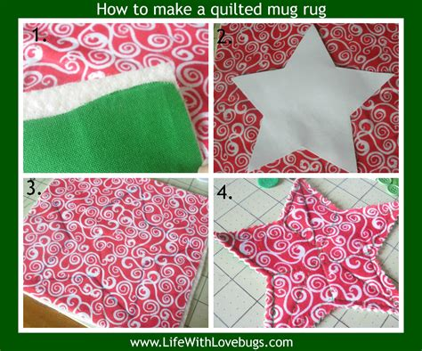 how to make quilted mug rugs how to make a quilted mug rug with lovebugs