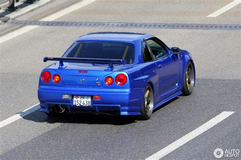 nissan skyline 2015 blue nissan skyline r34 gt r 21 november 2015 autogespot